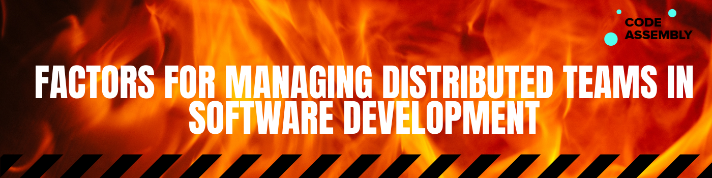 Distributed Teams in Software Development
